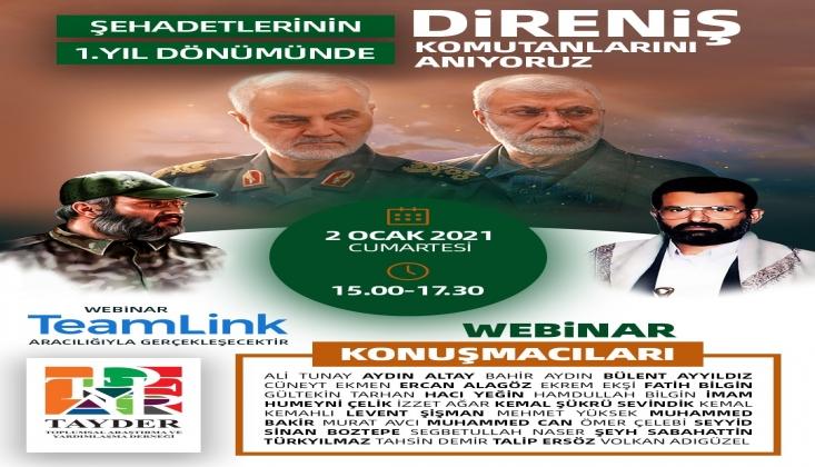 """TAYDER'de """"Direnişin Şehit Komutanlarını Anma"""" Programı Gerçekleşti"""