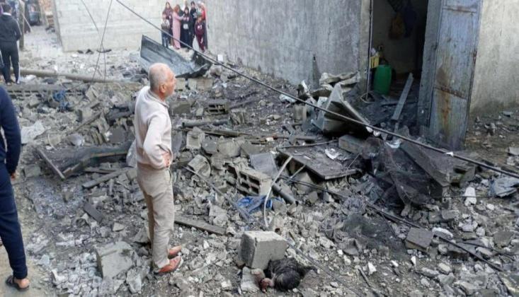 Gazze'de Korkunç Patlama +FOTO