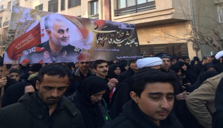 Tahran'da Kasım Süleymani İçin Cenaze Töreni Düzenlendi/FOTO-VİDEO