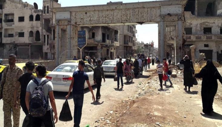 Suriye Vatandaşları Dera'daki Evlerine Dönüyor