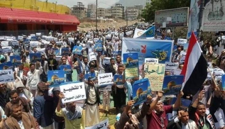 Yemen'de İsrail-BAE Normalleşme Anlaşması Protesto Edildi