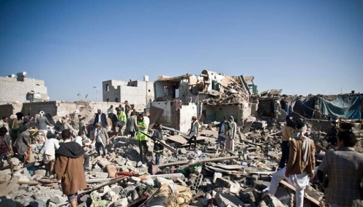 Suudi Savaş Uçaklarından Yemen'e Yoğun Saldırı