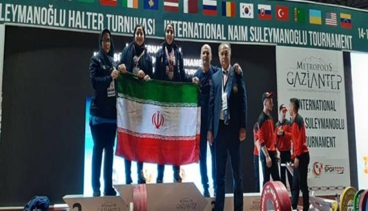 İranlı Bayan Halterci İlk Madalyayı Kazandı