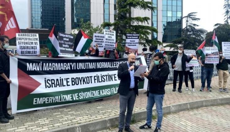 Siyonist İsrail Başkonsolosluğu Önünde Mavi Marmara Protestosu