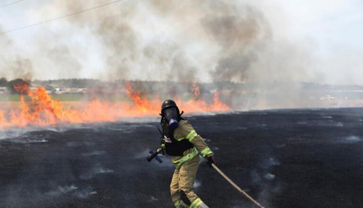 İşgal Altındaki Kudüs'te Yangın