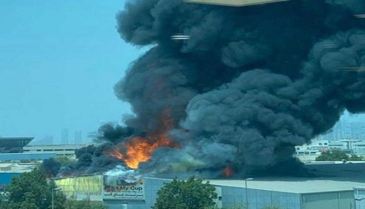 Dubai'de Havalimanı Yakınlarında Yangın Çıktı