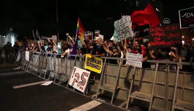 Netanyahu'a Karşı Gösteriler Siyonist Rejimi Kaygılandırdı