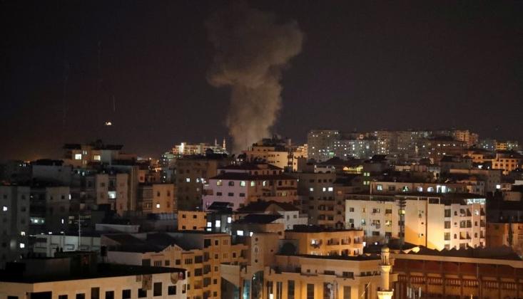 İşgal Rejimi, Gazze'ye Hava Saldırısı Düzenledi