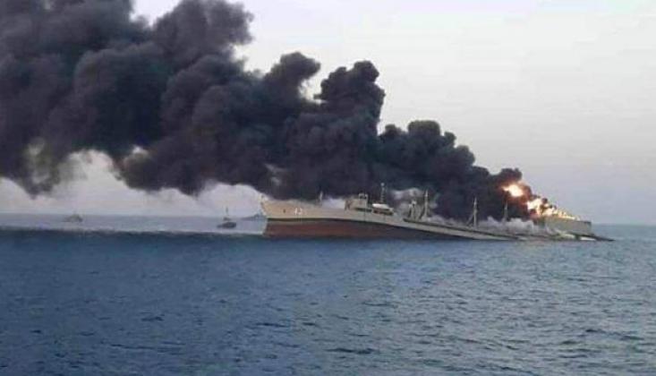 Bir Irak Gemisi Fars Körfezinde Yandı