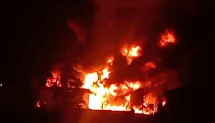 Hindistan'da Kimya Fabrikasında Dev Yangın