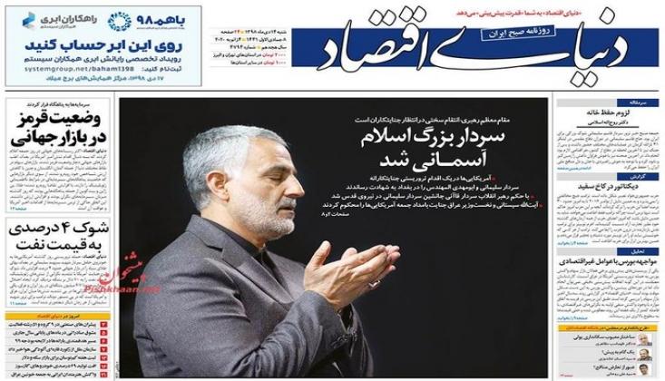 İran Gazetelerinin Kasım Süleymani Manşetleri