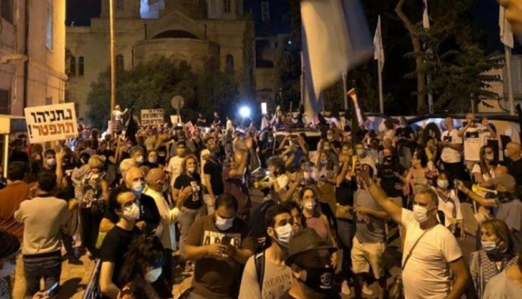 Siyonist Rejimden Netanyahu Karşıtı Gösteriye Müdahale