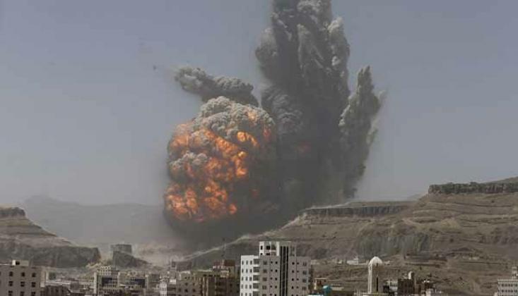 İşgalci Suud Yemen'i Bombaladı