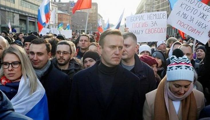 Rusya'da Navalni Protestosu