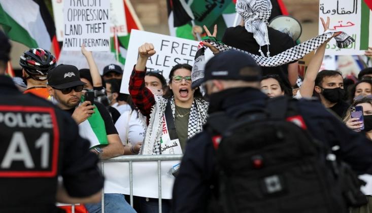 İşgalci İsrail Kanada'da Protesto Edildi