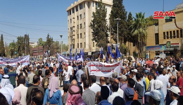 Haseke'de Halk Suyun Kesilmesini Protesto Etti