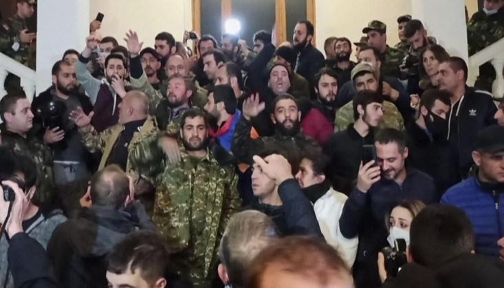 Dağlık Karabağ Anlaşması Ermenistan Sokaklarında Protesto Edildi /VİDEO