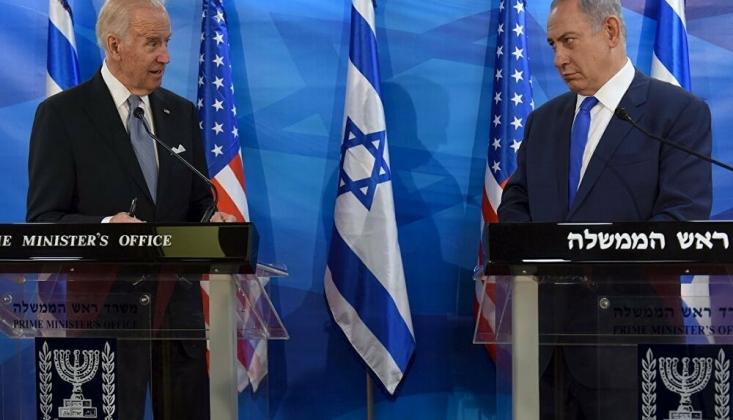 Siyonist İsrail'i Destekleyen Biden Protesto Edildi