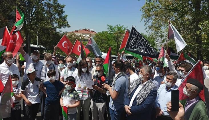 Ankara'da İşgalci İsrail Protesto Edildi