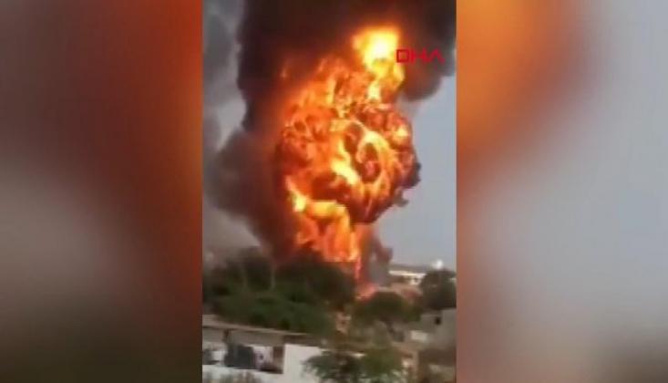 Hindistan'da Kimya Fabrikasında Yangın