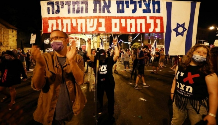 Netanyahu Karşıtı Gösteriler Sürüyor