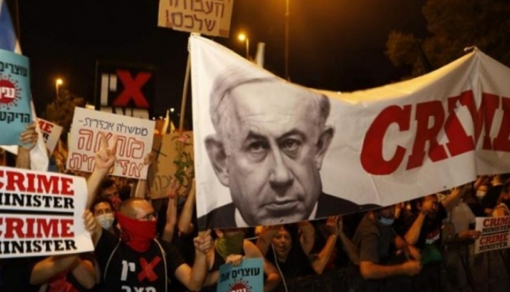 Netanyahu'ya Karşı Protestolar Devam Ediyor