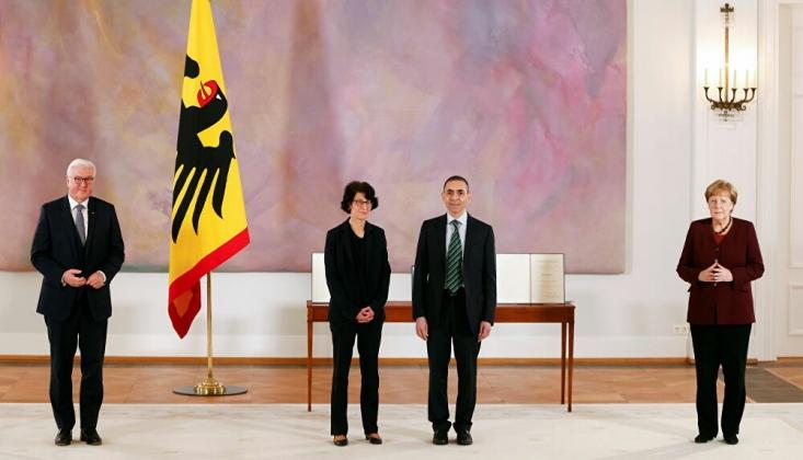 Almanya'dan Türeci İle Şahin'e En Üst Düzey Devlet Madalyası