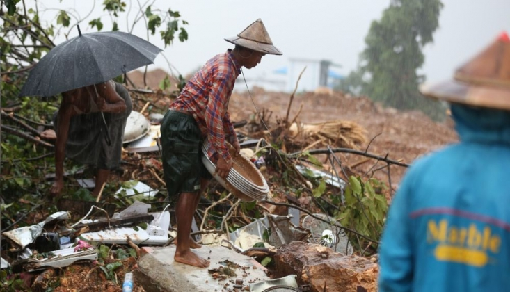 Myanmar'da Toprak Kayması: Ölü Sayısı 41'e Yükseldi
