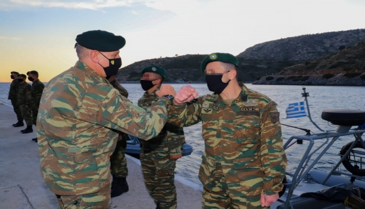Yunanistan Genelkurmay Başkanı'ndan Adalara Ziyaret