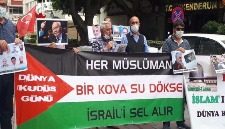 İskenderun'da Dünya Kudüs Günü Münasebetiyle Basın Açıklaması Düzenlendi