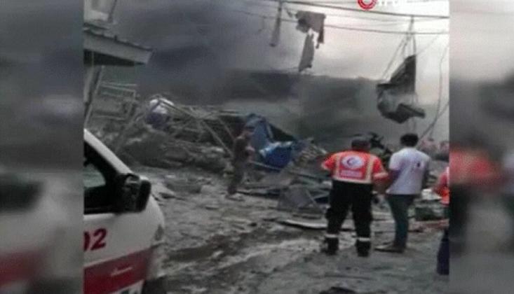 Gazze'de Pazar Alanında Patlama