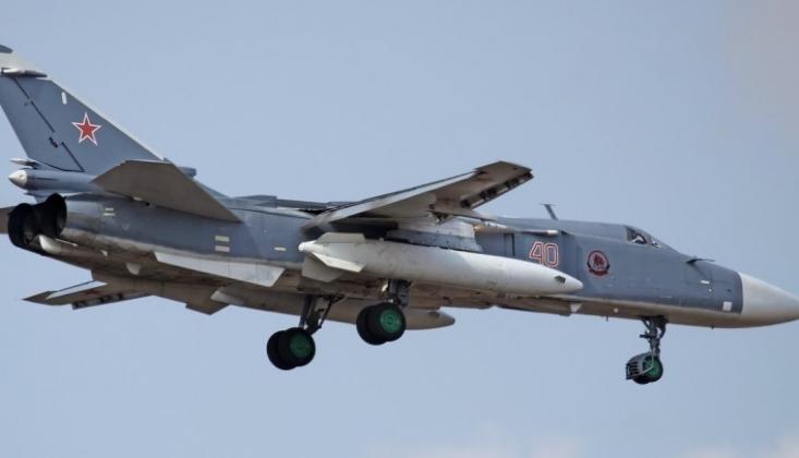 Rusya Yalanladı: İdlib'te Su-24 Uçağımız Düşürülmedi