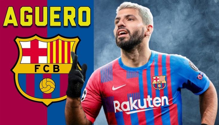 Sergio Agüero Resmen Barcelona'da
