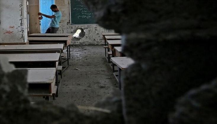 Siyonist Rejim Gazze'de Okulu Hedef Aldı