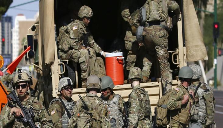 Pentagon, Washington'a 1600 Asker Konuşlandırdı