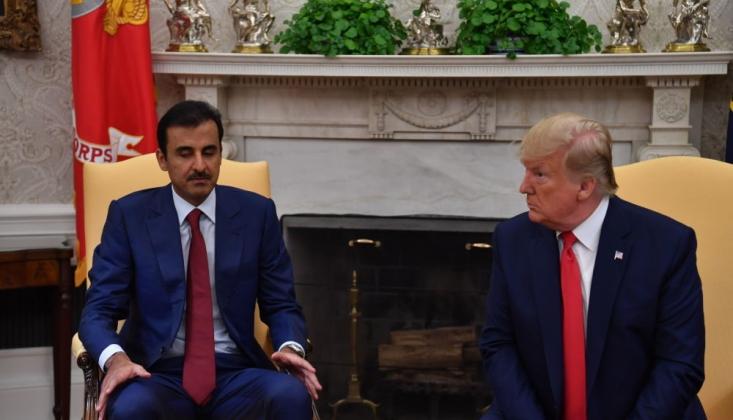 Trump, Katar Emiri ile Taliban'ın Serbest Bıraktığı Rehineleri Görüştü