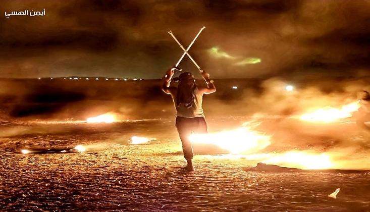 Gazze'de Gece Karmaşası Direnişi