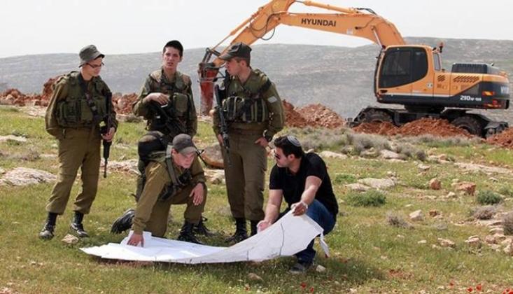 İşgal Rejimi Beytüllahim'de Filistinlilerin Arazisine El Koydu