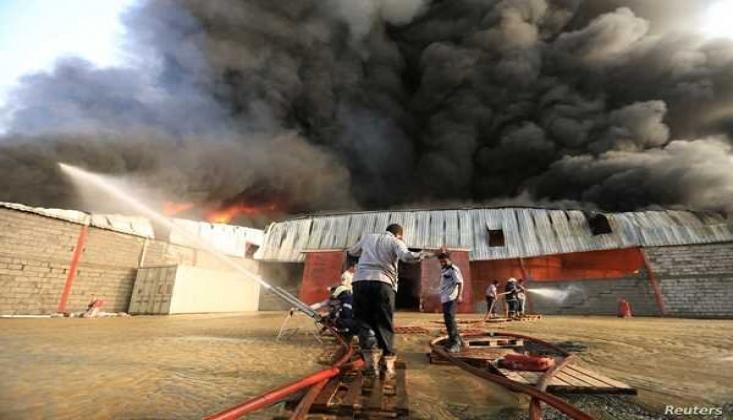 Yemen'de Göçmenlerin Gözaltı Merkezinde Yangın