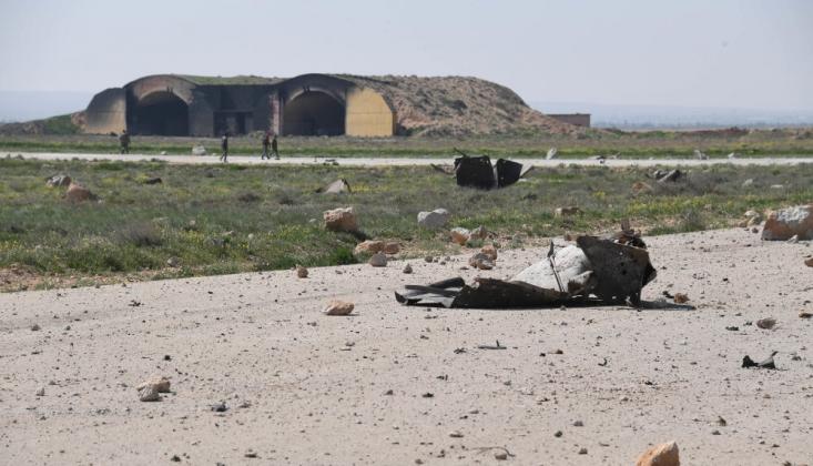 İsrail Suriye'nin T-4 Hava Üssüne Saldırdı