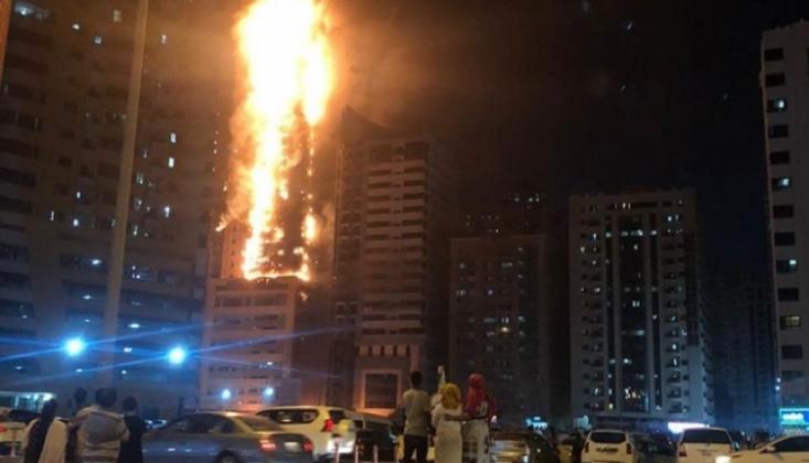BAE'de Gökdelende Büyük Yangın: 7 Yaralı