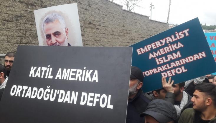 ABD'nin İstanbul Konsolosluğu Önünde Kasım Süleymani Protestosu