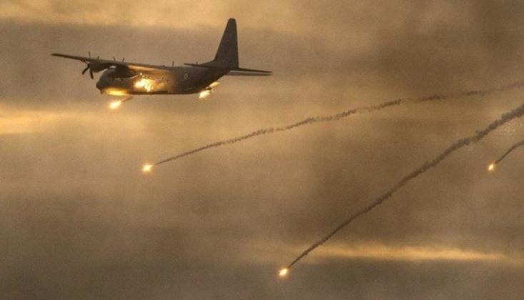 Siyonist Rejim Savaş Uçakları Yine Gazze'yi Hedef Aldı