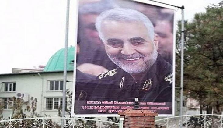 Iğdır'da Şehit Kasım Süleymani Posteri Asıldı