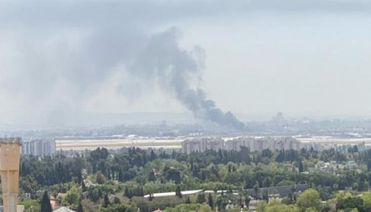 Ben Gurion Havaalanı Yakınlarında Yangın Çıktı