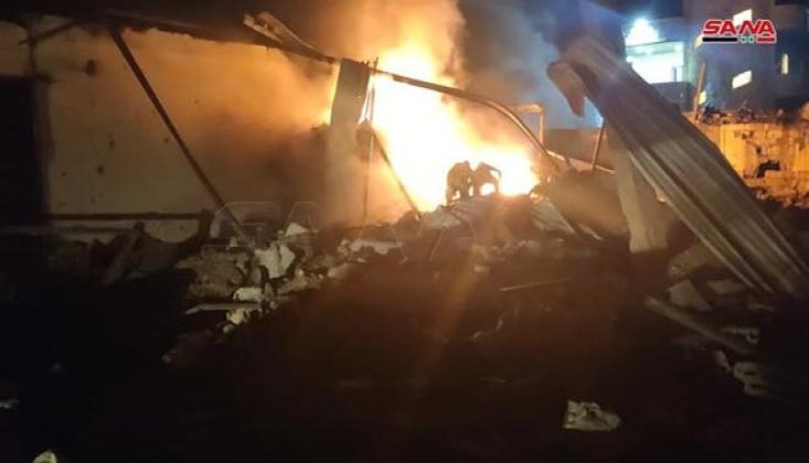 Siyonist İsrail Lazkiye ve Hama'ya Saldırı Düzenledi