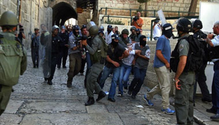 İşgal Polisi Şam Kapısında Toplanan Filistinlilere Saldırdı