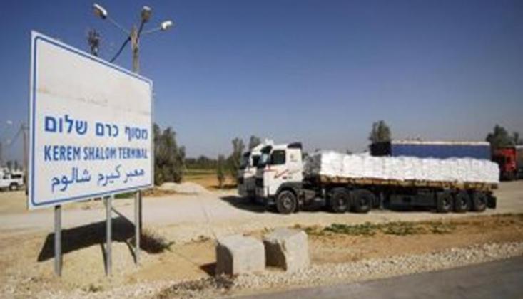 Siyonist Rejim, Gazze'ye Ticaret Kapısını Kapatıyor