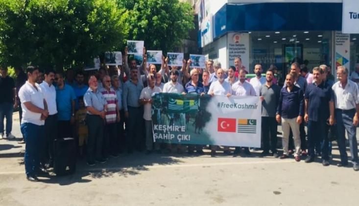 İskenderun'da Keşmir ve Mescid-i Aksa İçin Basın Açıklaması Düzenlendi