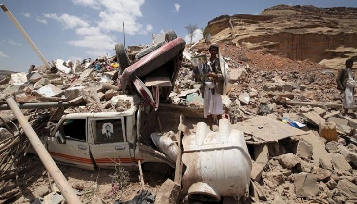 Suudi Koalisyonu Yerleşim Yerlerini Hedef Aldı